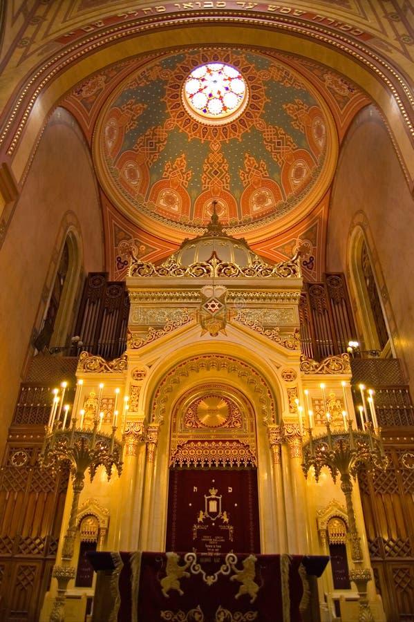 budapest synagoga arkivbild
