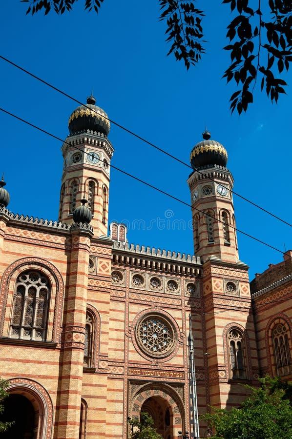 budapest synagoga arkivfoto
