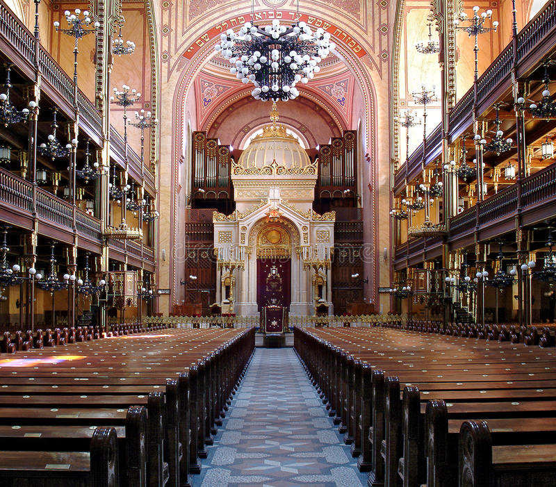 budapest synagoga royaltyfri foto