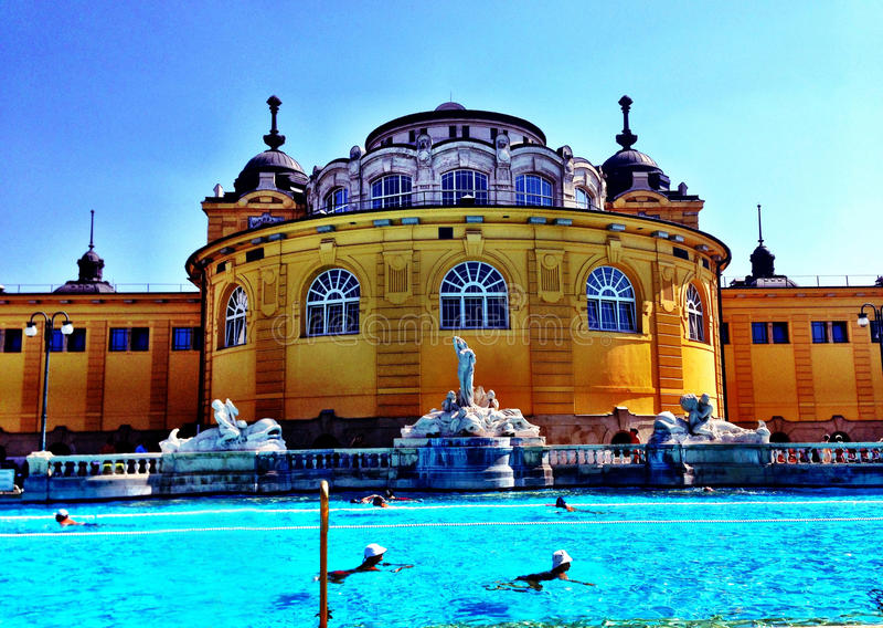 Budapest szechenyi skąpania zdjęcia royalty free