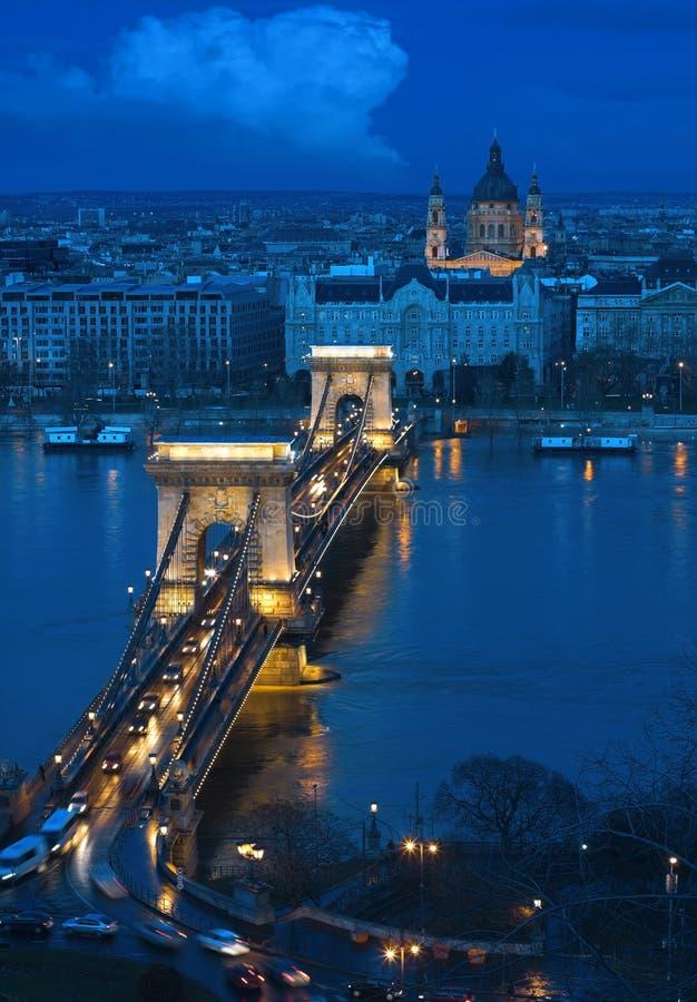 Free Budapest - The Old Chain Bridge Royalty Free Stock Photos - 1078828