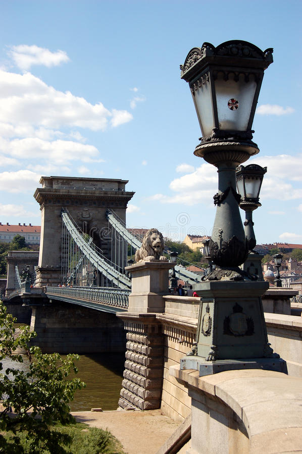 Free Budapest - The Old Chain Bridge Stock Photography - 12280012