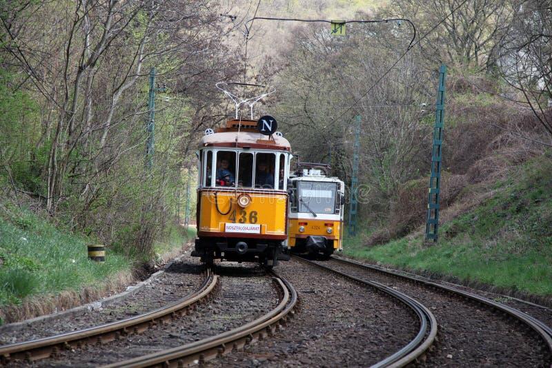 budapest tramwaje zdjęcia royalty free