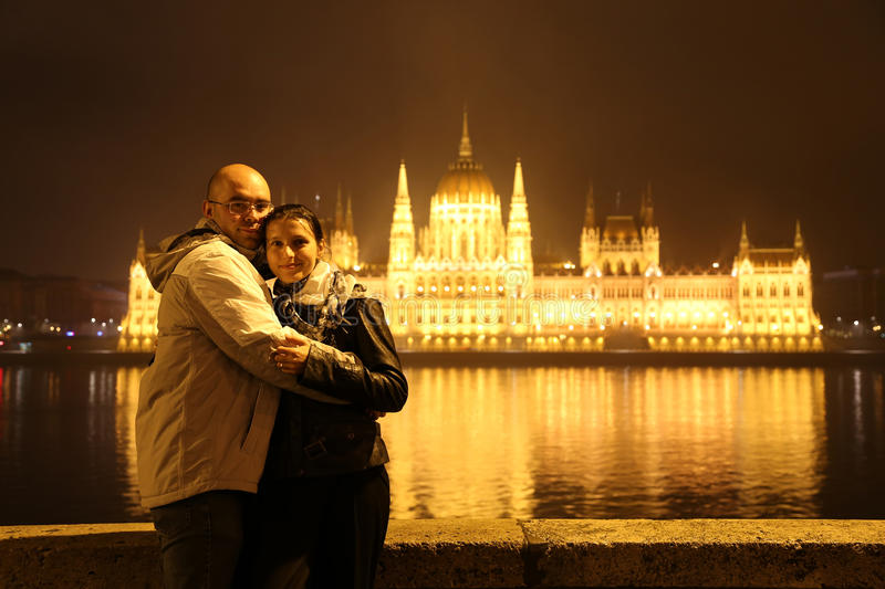 Budapest Traveling Couple royalty free stock photography