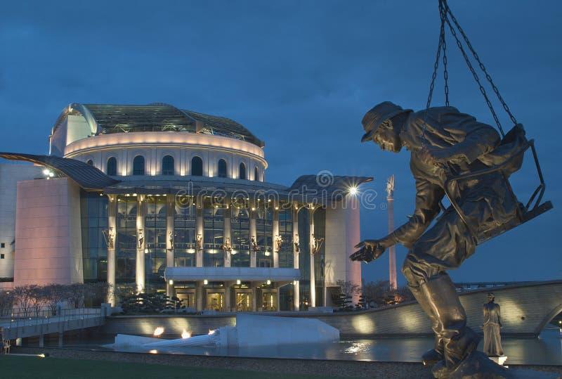 Budapest - ungarisches Nationaltheater stockbilder