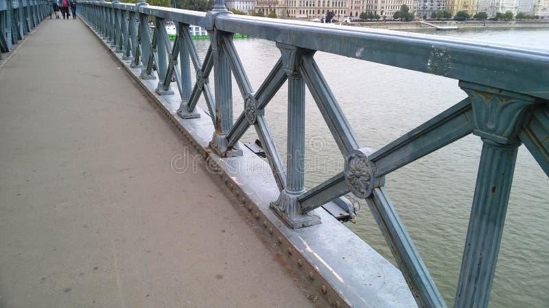 Budapest, Ungarn Die Hängebrücke Szechenyi Lanchid in Budapest, Ungarn stockfoto