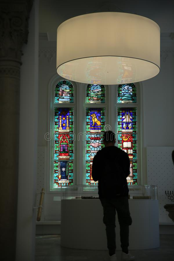 BUDAPEST, UNGARN 30. März 2017, Architekturdetails von Budapest-Synagoge, Dohany-Synagoge in Budapest, Ungarn lizenzfreies stockfoto