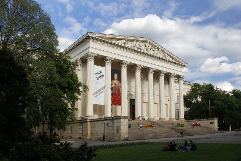 BUDAPEST/UNGARN - 9. MAI: Ungarisches Nationalmuseum, am 9. Mai 2014 in Budapest/in Ungarn lizenzfreie stockbilder