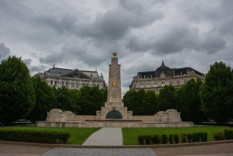 Budapest, Ungarn: Monument zur sowjetischen Befreiung von Ungarn im Zweiten Weltkrieg von Nazi German-Besetzung entworfen durch K stockbilder