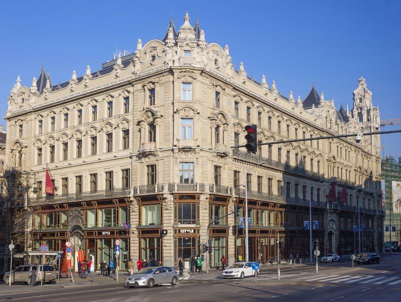 Budapest Ungern, hotellBuddha-stång Budapest Klotild slott arkivbilder