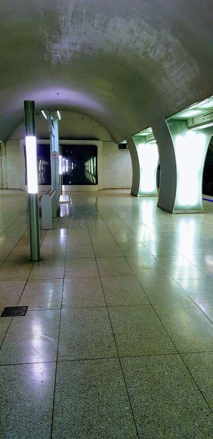 Budapest, Ungern - 2019 10 06 : Rákóczi tunnelbanestation royaltyfri fotografi