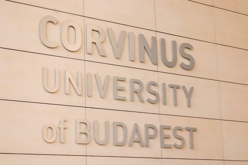 Budapest/Ungern -09 09 18: Budapest universitetakademi Corvinus Egyetem royaltyfria bilder