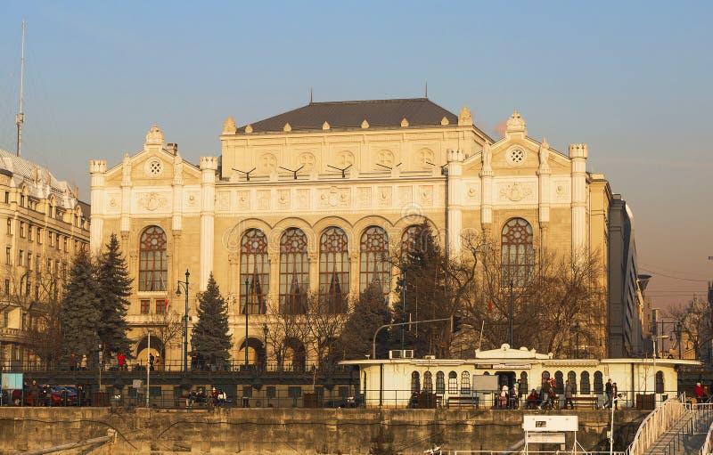 Budapest Ungern, Vigado konserthallbyggnad arkivfoto