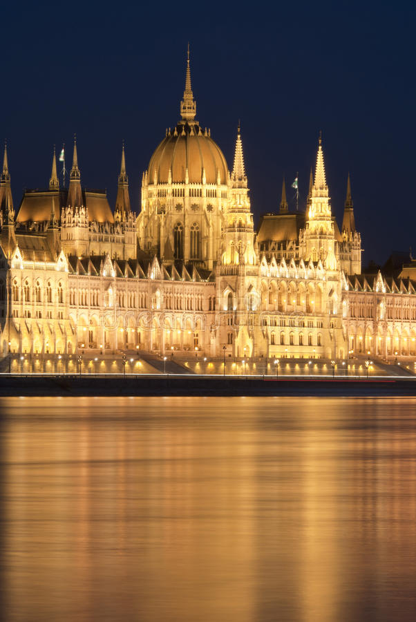 budapest ungersk nattparlament royaltyfri fotografi