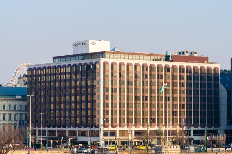 Budapest, Ungheria, il 19 febbraio 2019 - hotel di Sofitel fotografia stock libera da diritti
