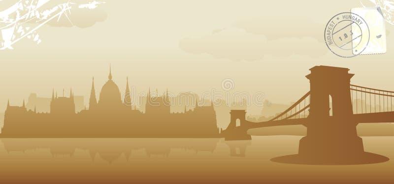 Budapest-Vektorillustration lizenzfreie abbildung
