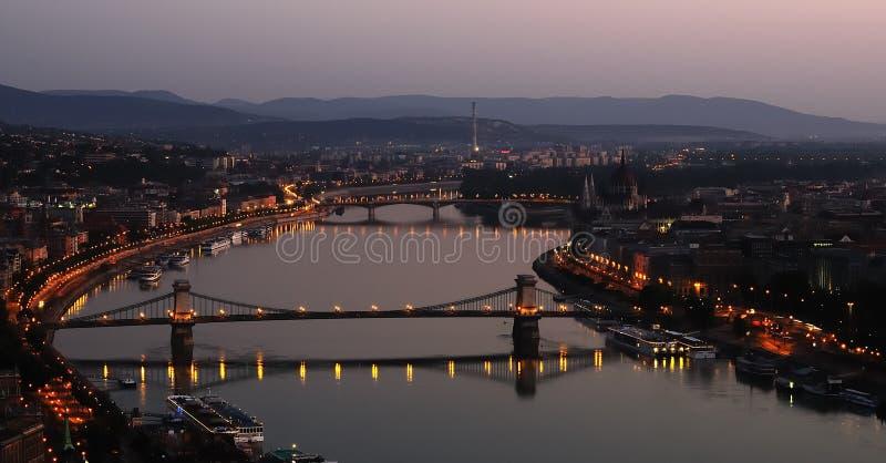 Budapest vid gryning arkivbild