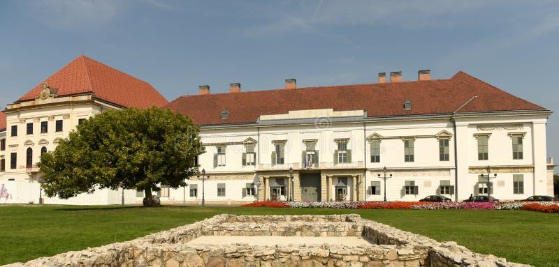 Budapest Węgry, Sierpień, - 30, 2018: SÃ ¡ ndor pałac Sandor-palota jest oficjalną rezydencją prezydent Węgry, i zdjęcia stock