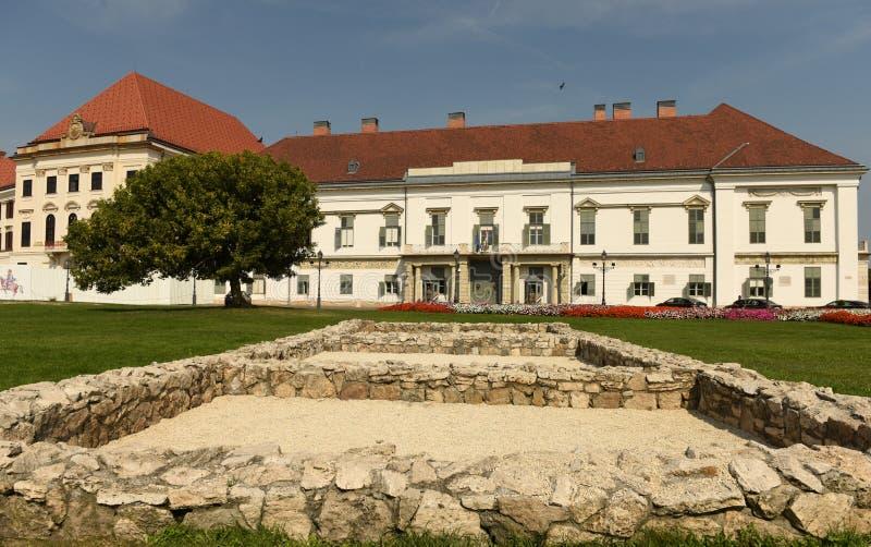 Budapest Węgry, Sierpień, - 30, 2018: SÃ ¡ ndor pałac Sandor-palota jest oficjalną rezydencją prezydent Węgry, i zdjęcie royalty free