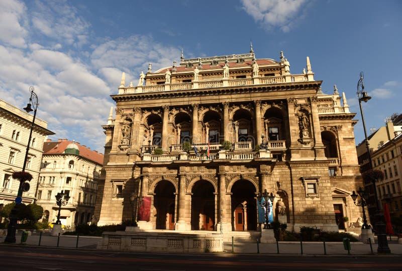 Budapest Węgry, Sierpień, - 29, 2017: Węgierska stan opera w Budapest zdjęcia royalty free