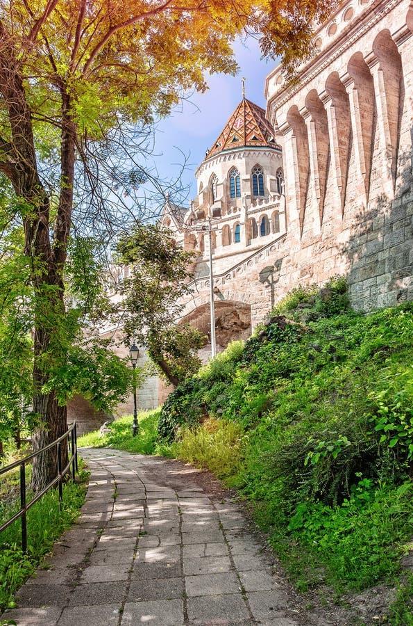 Budapest, Węgry Widok rybaka bastion w Budapest Był obraz royalty free