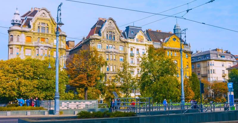 Budapest, W?gry - MAI 01, 2019: Sceniczny widok stary miasteczko Szentendre, W?gry przy pogodnym letnim dniem Szentendre jest mia fotografia stock