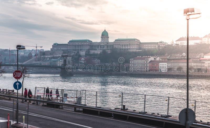 Budapest-Winterlandschaft stockbild