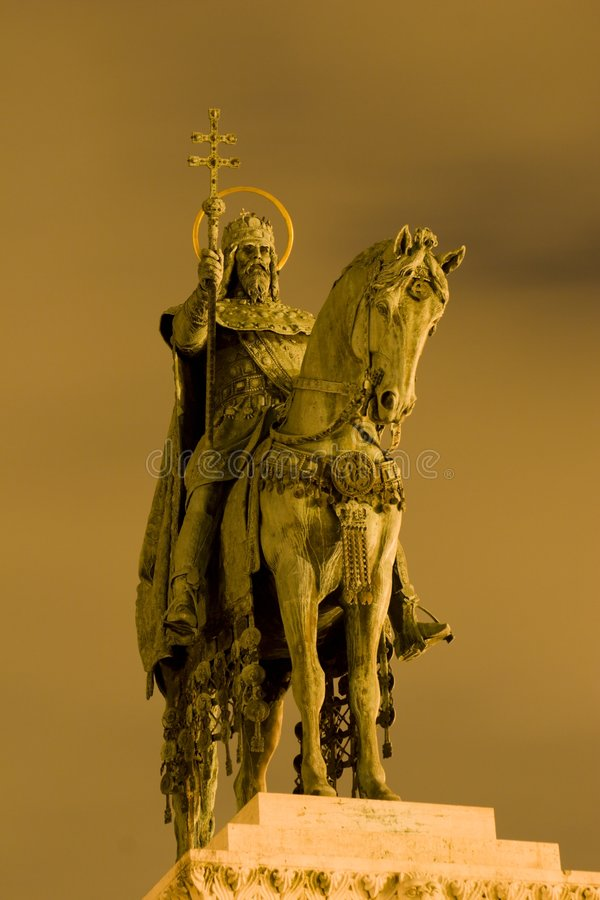 budapeszt cesarza st posąg Stephen fotografia royalty free