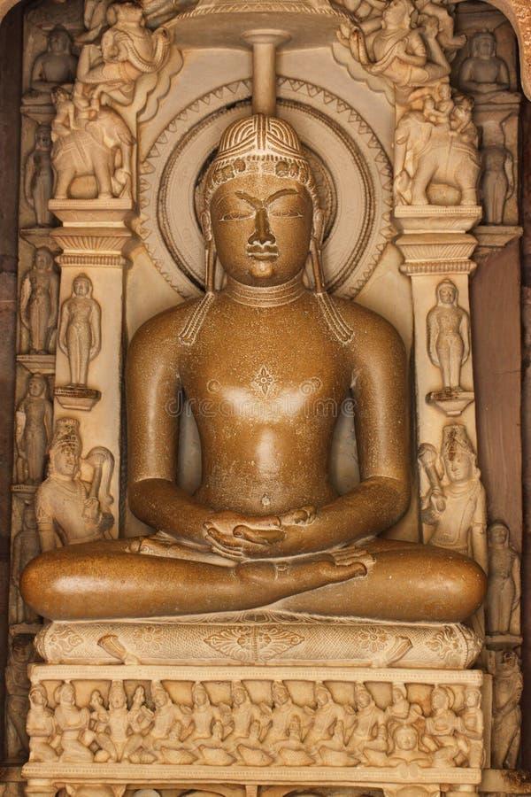 Budastandbeeld van Khajurahotempels, India stock foto