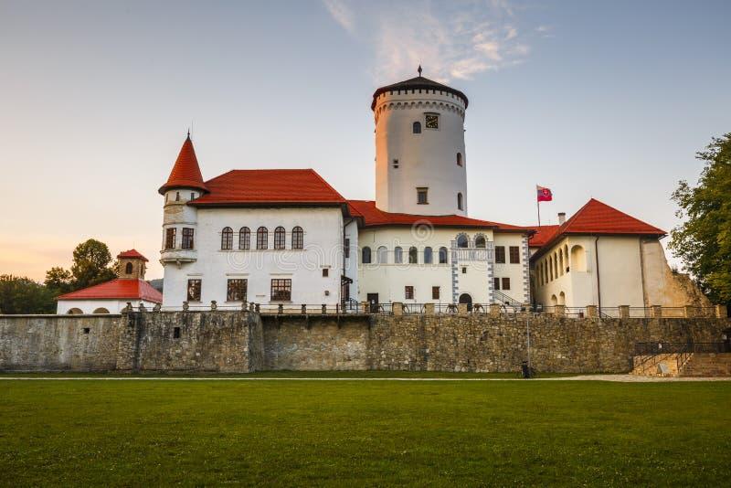 Budatin castle stock photo