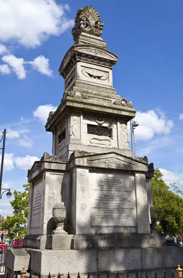 Budd纪念品在布里克斯顿,伦敦 免版税库存图片