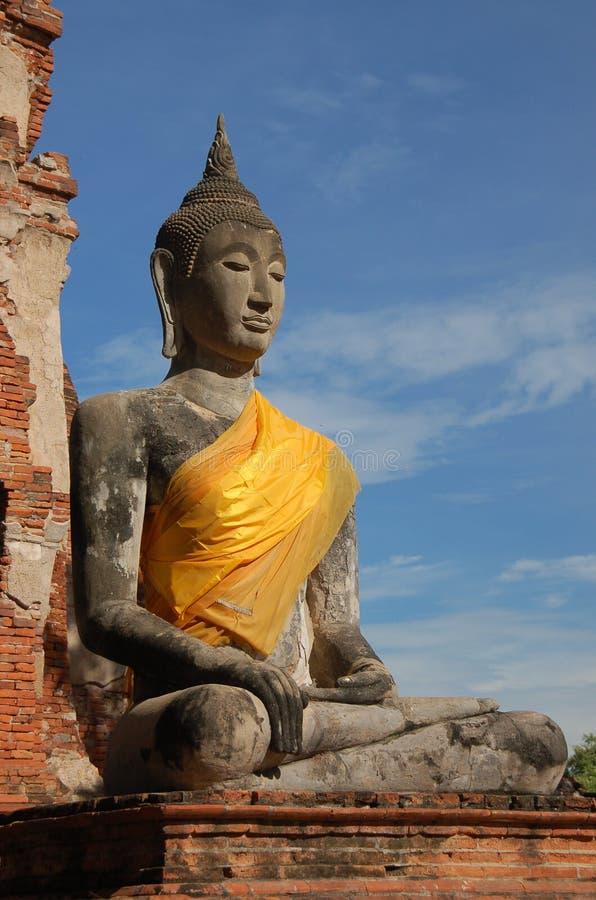 Budda, Ayutthaya, Thailand lizenzfreies stockbild