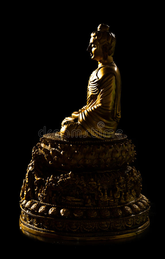 Budda en bronze se reposant images stock