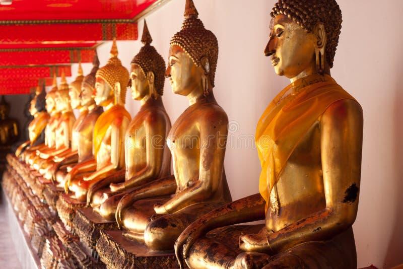 Budda in tempel, Thai van Azië stock fotografie