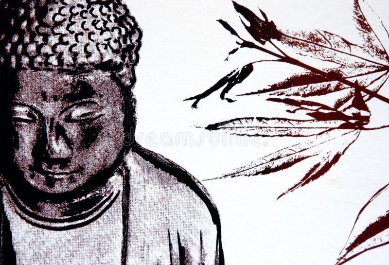 budda wydrukował ilustracja wektor