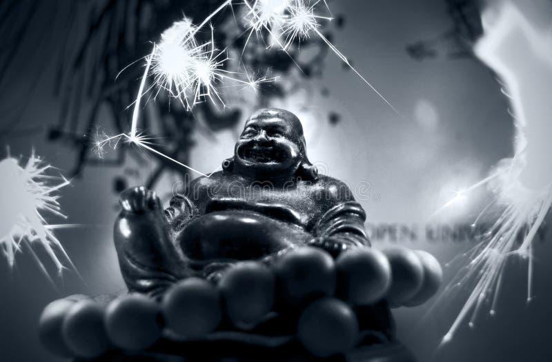 Buddah -烟花 免版税图库摄影