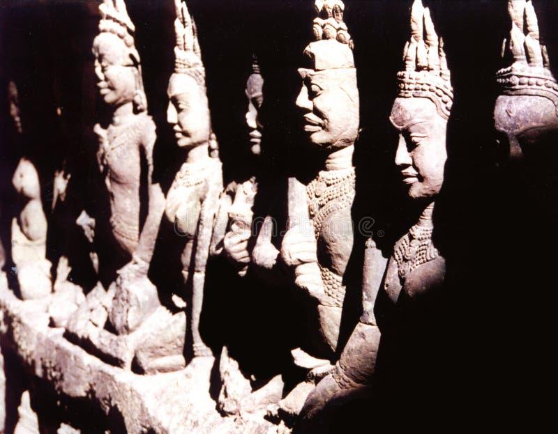 Buddah雕象 库存照片
