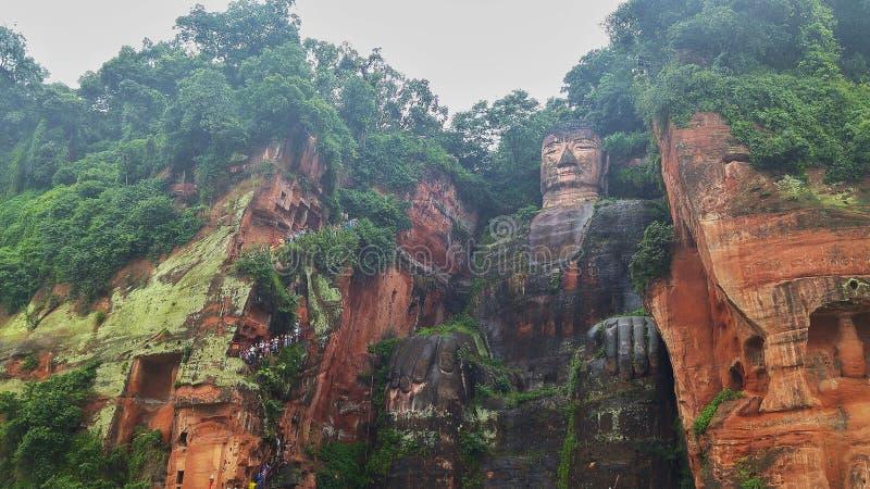 Buddah i Leshan royaltyfri fotografi
