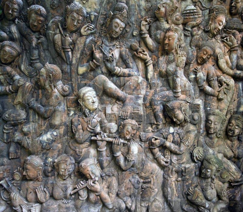 Buddah wall stock image