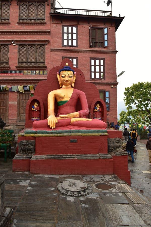 Buddanathstupa, Nepal stock foto