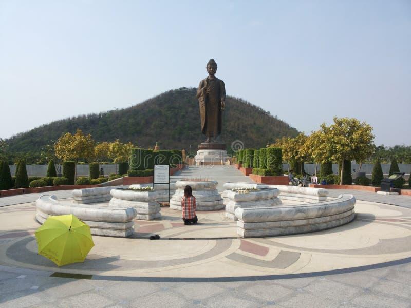 Buddh stature on sukonthip temple. Buddah stature on sukonthip temple royalty free stock photography
