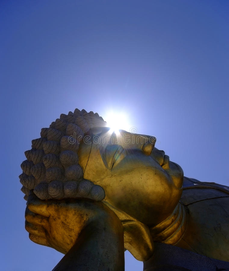 Buddha. Closeup of a giant Buddha Statue royalty free stock images
