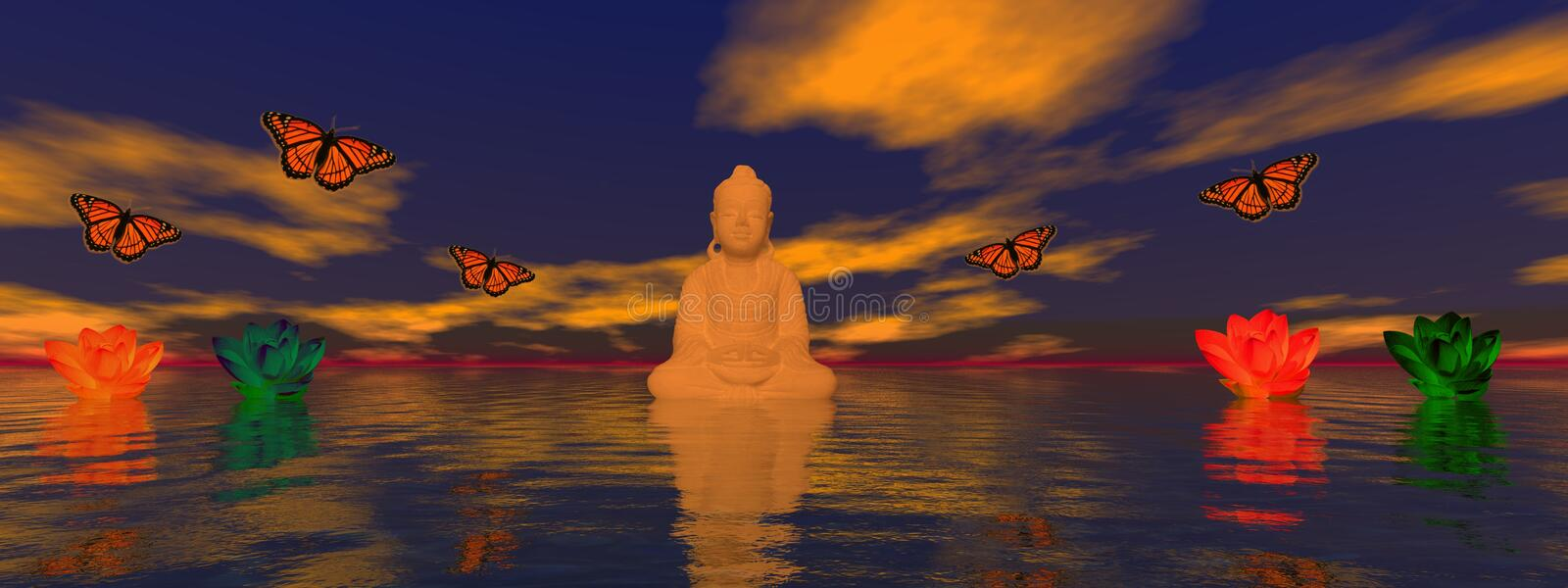 buddha royaltyfri illustrationer