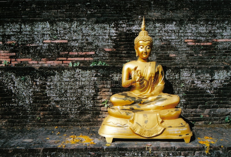 Buddha. Statue at a temple in Thailand stock image