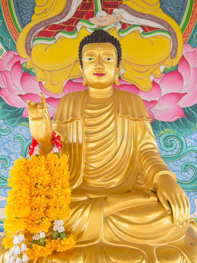 Download Buddha stock image. Image of sitting, flower, monk, statue - 26429901