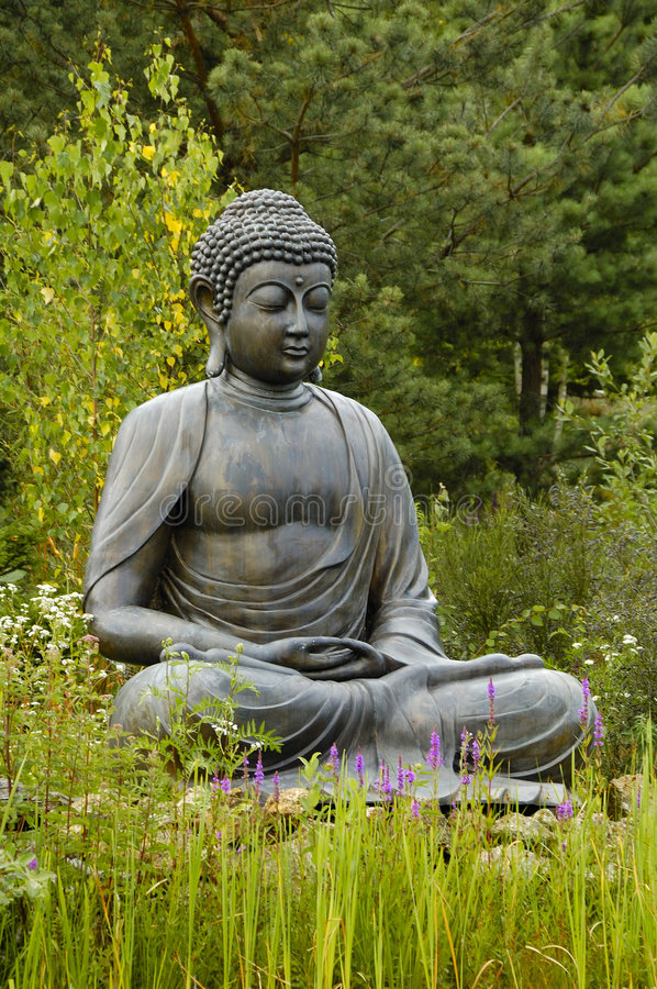 Buddha. Sitting Buddha statue in Germany stock images