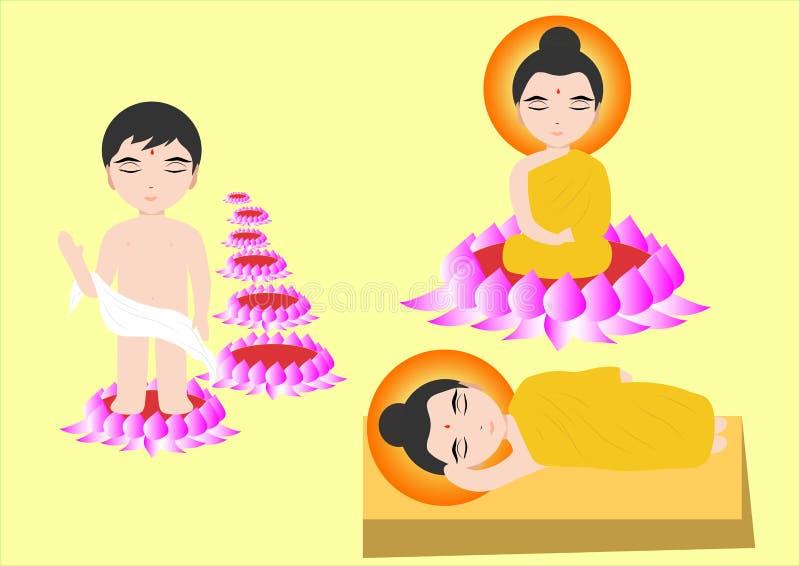 buddha ilustração stock