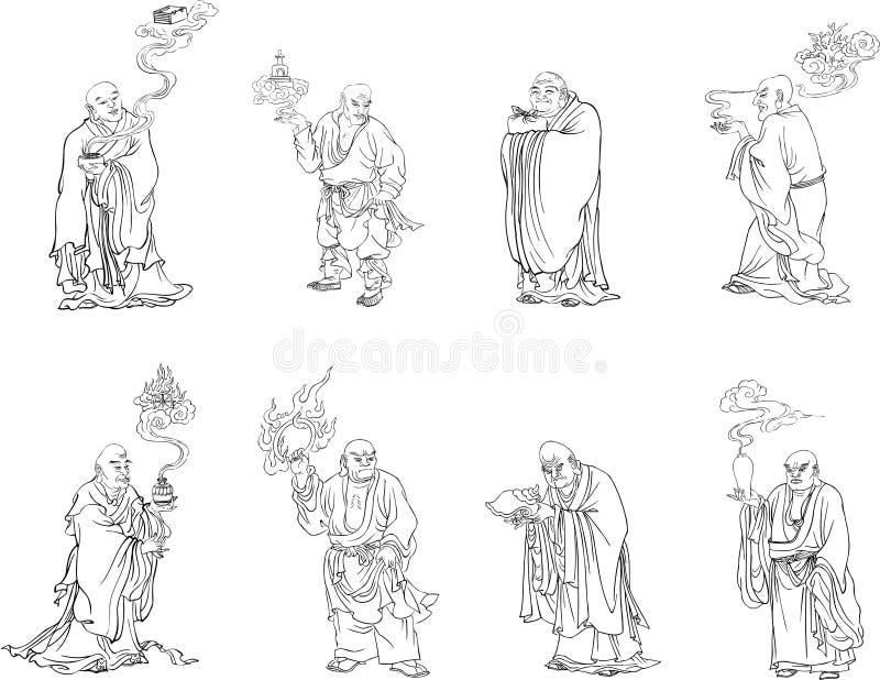 Buddha stock de ilustración