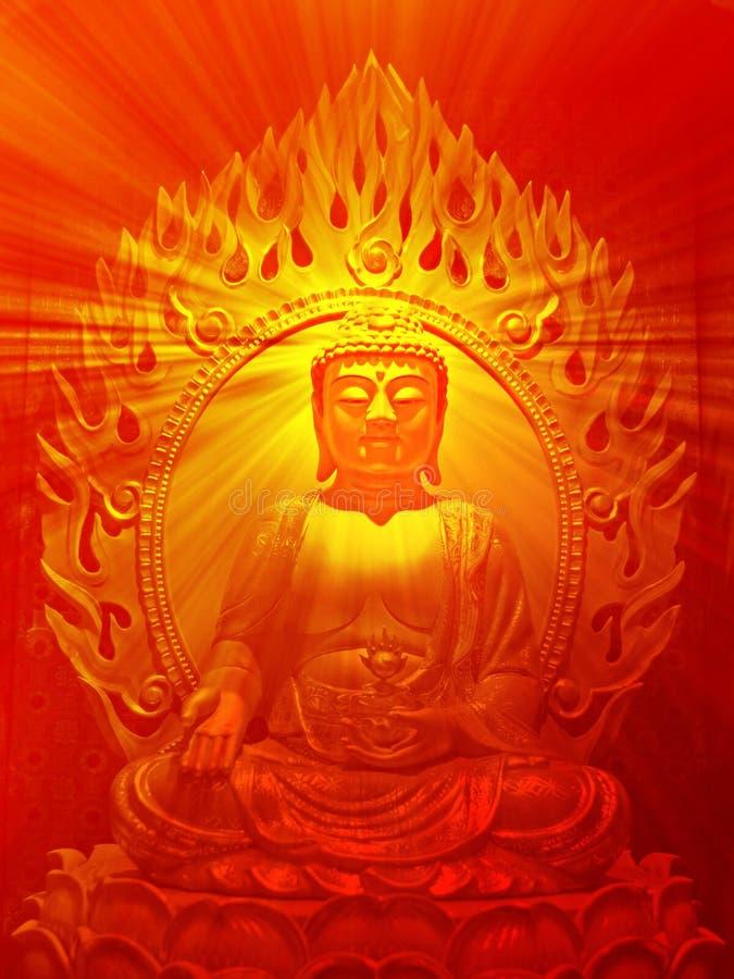 Buddha-Abbildung vektor abbildung
