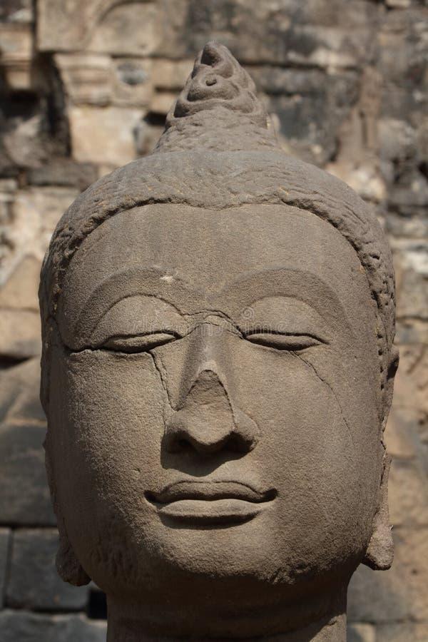 Buddha antico affronta, Ayutthaya, Tailandia fotografie stock